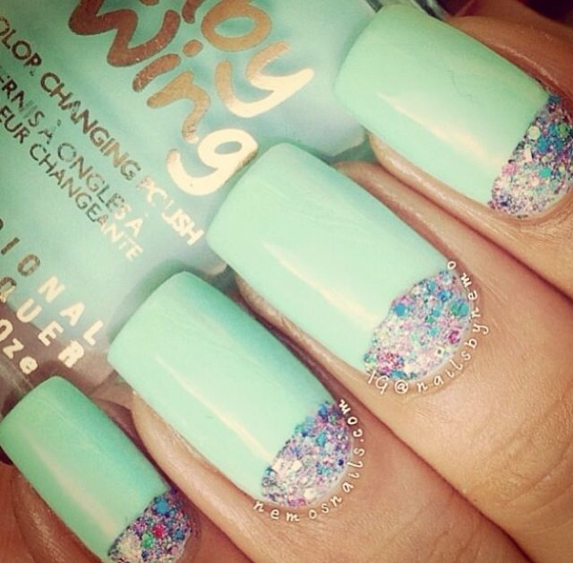 Mint Green Prom Nail: 1000+ Ideas About Mint Green Nails On Pinterest