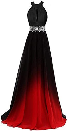 Buy Aurora Bridal Womens Pleated Long Ombre Bridesmaid Dresses Formal Evening Go…