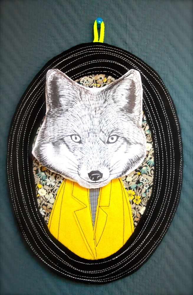 What does the fox say? If you had this #wallnoggin on your wall, maybe you could just ask.
