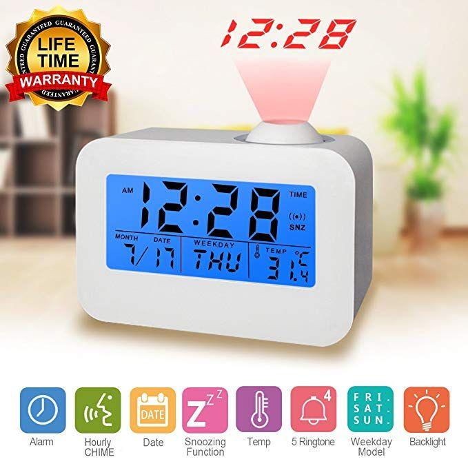 Digital Alarm Clock Projection