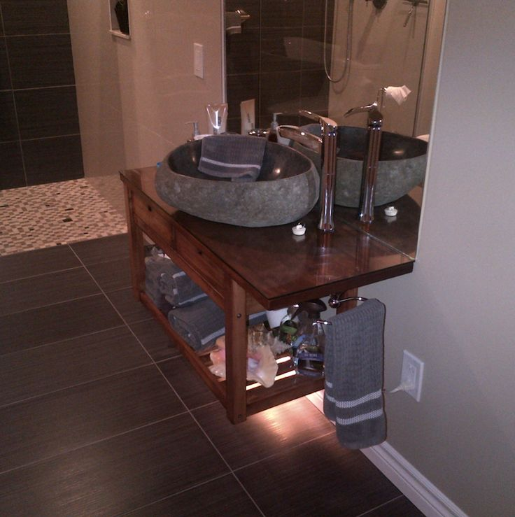 Floating Stone Sink : ... stone sink bathroom inspiration Pinterest Floating vanity, Sinks