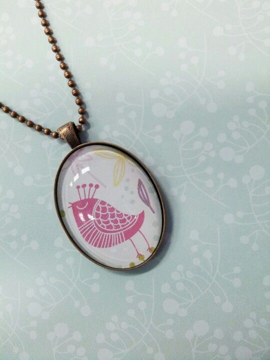 Craft of the day: Birdie Cabochon Pendant.