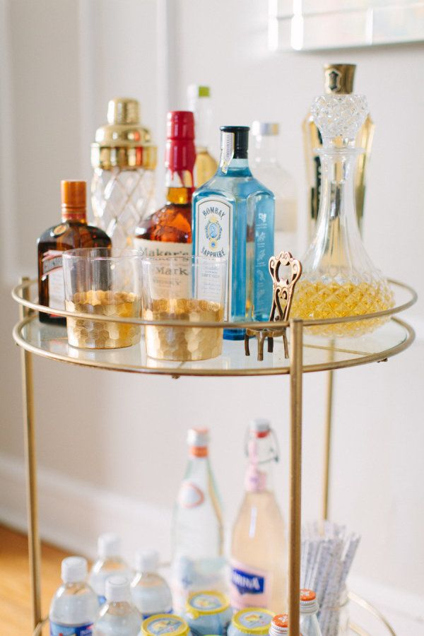 Small bar cart: http://www.stylemepretty.com/living/2015/11/03/bar-trays-carts-and-oh-my/