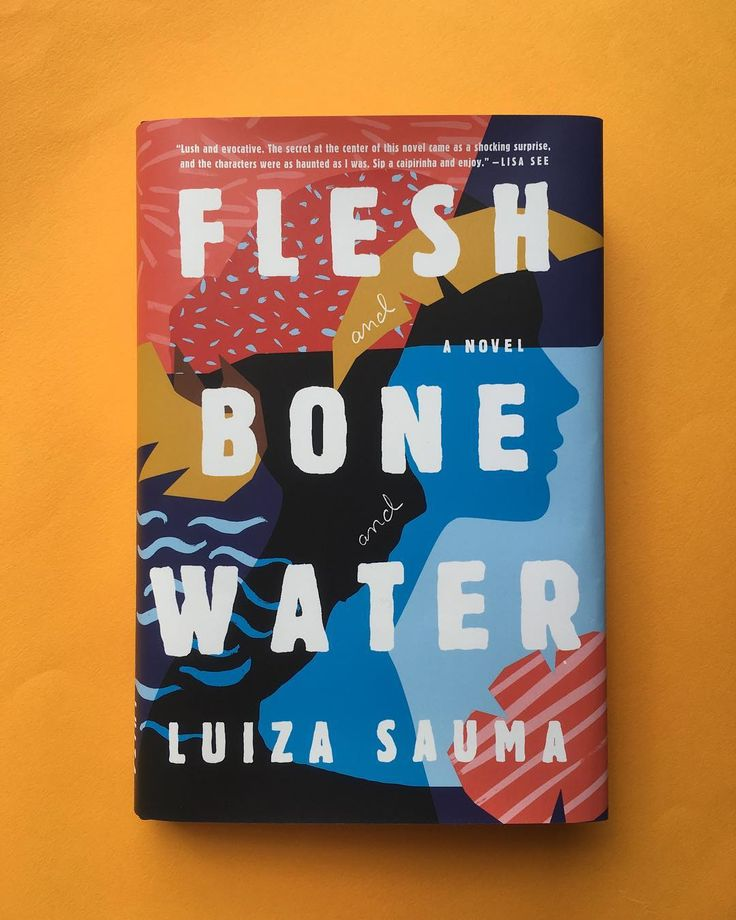 "Flesh and Bone and Water Jacket design: Lauren Peters-Collaer Art director: Jaya Miceli Scribner * This beautiful book is out now!!! * ""#LuizaSauma's debut novel is that rare thing: a completely absorbing, brilliantly-designed, literary work. Her ability to cut across time and continents and to inhabit the physical and inner life of both a young Brazilian and that same man in middle-age is as dazzling as the novel's plot. The reveal, when it comes, is astonishing—sensuous..."