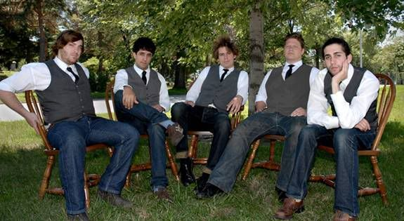 vests and jeans: Casual Groomsmen Attire Jeans, Groomsmen In Jeans, Groomsmen Idea, Men'S In Jeans, Blue Ties, Grey Vests, Grooms And Groomsmen, Men'S Weddings Attire Jeans, Grooms Attire