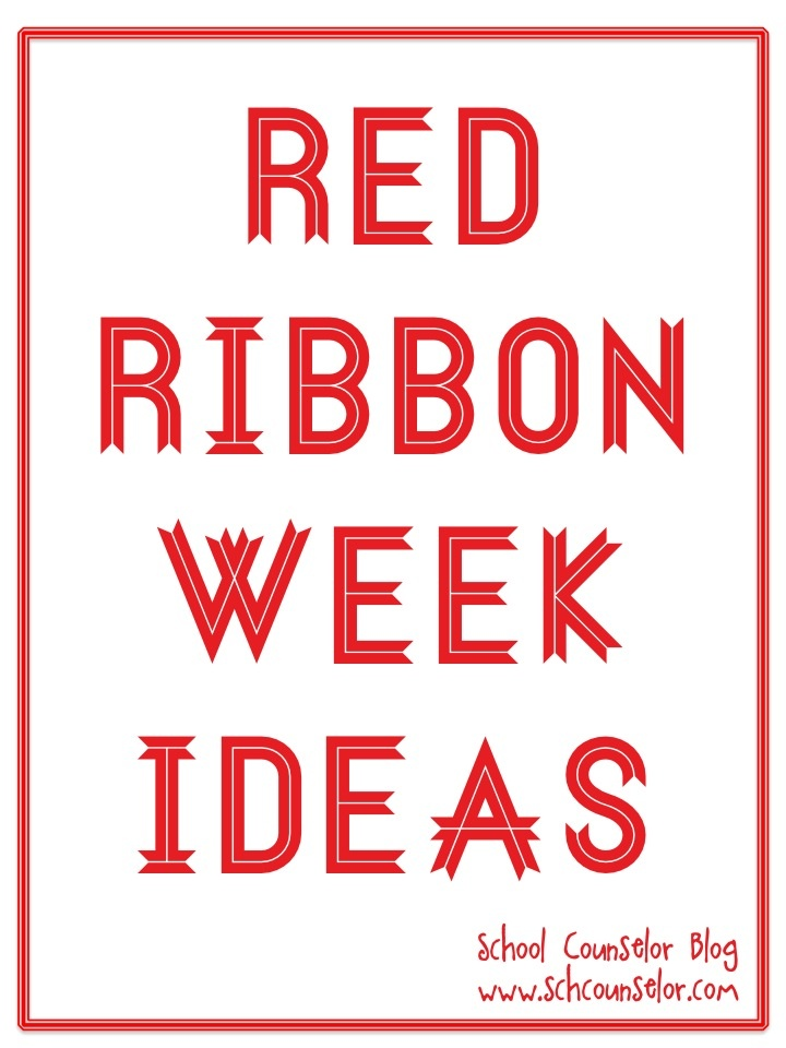 School Counselor Blog: Red Ribbon Week Ideas: School Counselor Spotlight - Character is Our Super Power - Red Ribbon and Character Counts Theme, Career Dress Up Day, Dress for Success Day,College, University, Military, and Trade School Day, Spirit Day