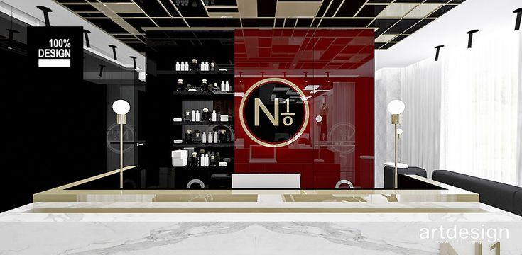 No1 | Studio Urody | Projekt wnętrz - recepcja