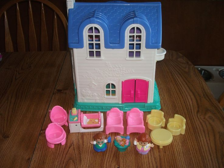 Fisher Little People Blue Roof Dollhouse House Only Fp2511