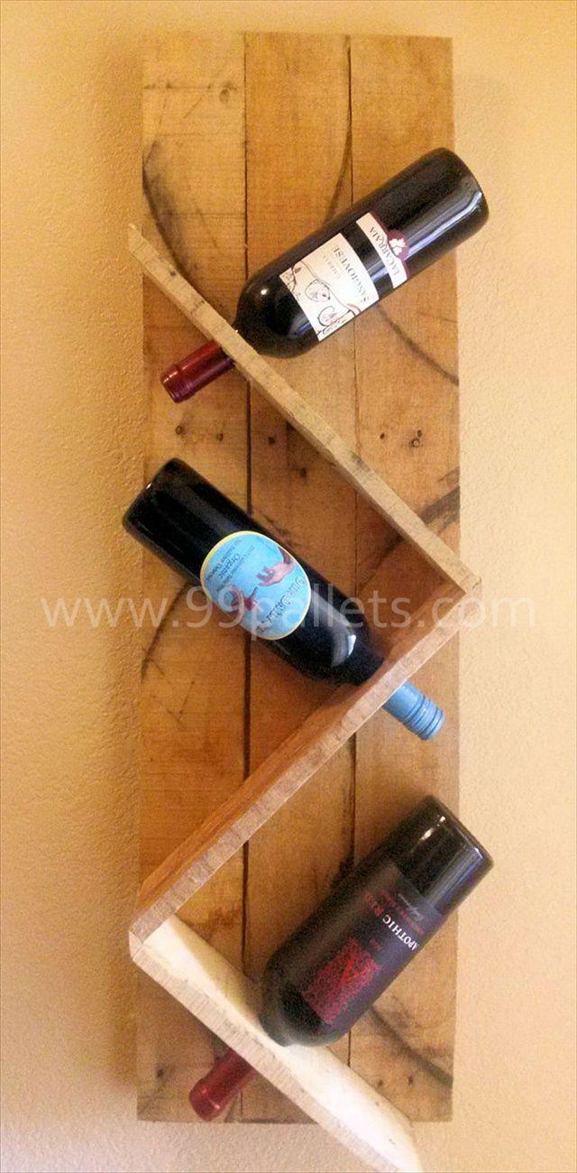 DIY Unique Pallet Wine Rack Craft