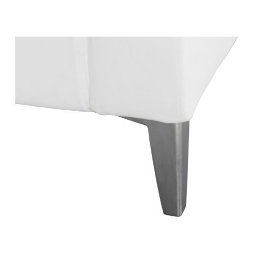 Another option for the IKEA KARLSTAD couch, Leg, aluminum  $20.00/ 4 pack, or we could just paint/restain ones that come with couch...