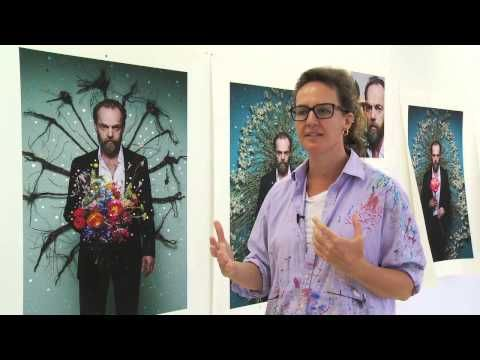 Artist Del Kathryn Barton (in her studio) discusses the techniques and processes involved in creating her art work of actor Hugo Weaving.