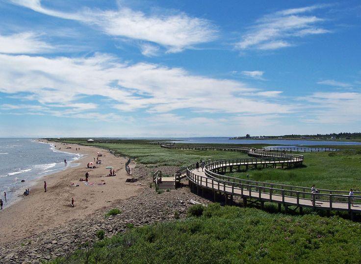 La dune de Bouctouche est située à l'est de la ville de Bouctouche, au Nouveau-Brunswick. Elle est longue de plus de 12 kilomètres et a été formée il y a plus de 2000 ans