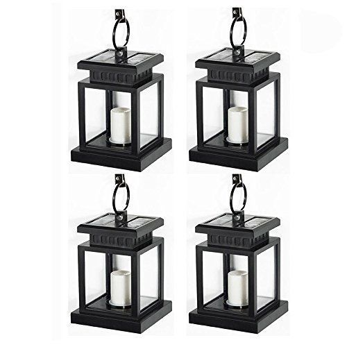 Outdoor Solar LED Lights 4Pcs Vintage Hanging Lamps Garden Patio Yard Camping  #KBrand