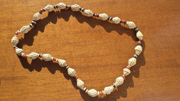 Collane medie - Collana di carta etnico - un prodotto unico di Orchidea77 su DaWanda
