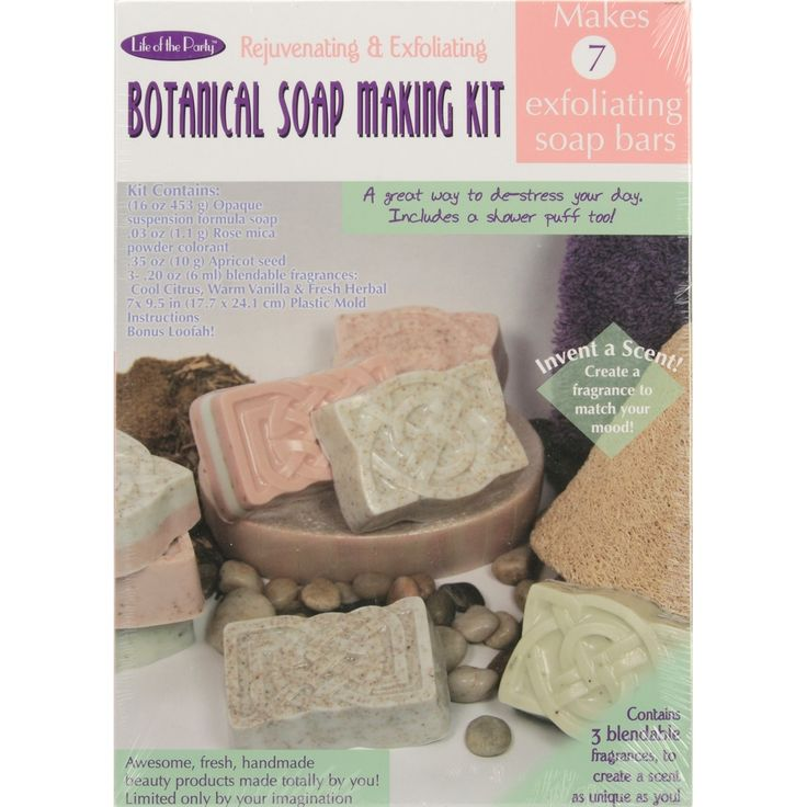 Life Of The Party Botanical Soap Making Kit-, Pink apricot