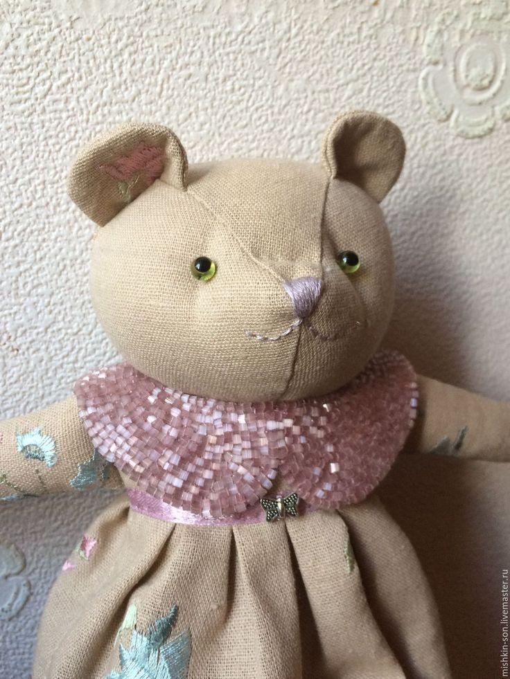 Купить Мишка Зеленоглазая - мишка, мишка ручной работы, мишка в подарок, мишка в одежке