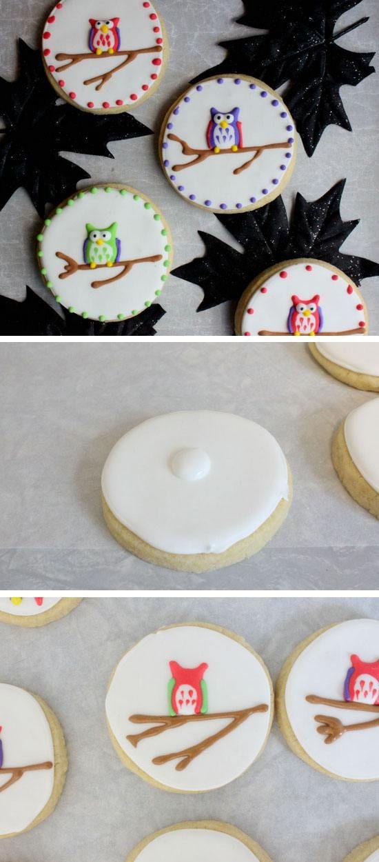 Easy to Make Owl Sugar Cookies   22 Easy Fall Crafts for Kids to Make   Fun Fall Crafts for Kids to Make