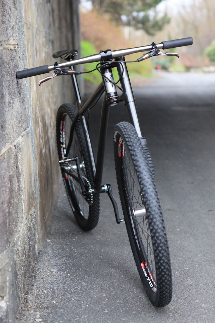 Victoire Cycles MTB singlespeed 29er steel frame with Cannodale Lefty fork, Tune wheels and Thomson components