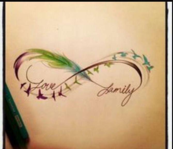 09 Infinity Symbol Tattoo with Family