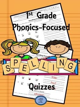 Find the Sound Spelling & Use it! This 39 page pack includes;*16 Quizzes & 16 Answer Keys*a structured, repetitive format-students identify a phonics spelling and then use it to spell an additional word*begins basic with cvc short vowel words, builds to cvcc and ccvc short vowel words with a variety of blends, and ends with long vowel spellings and digraphs  *trackable pages are included to record data and guide instruction in the classroom*allows you to monitor and keep a close eye on all…