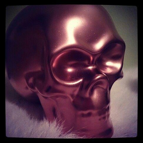 Bronze sprayed skull