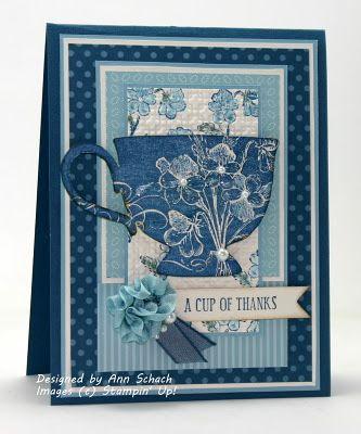Baja, NQN, Tea Shoppe set - and a video - Ann always makes lovely cards
