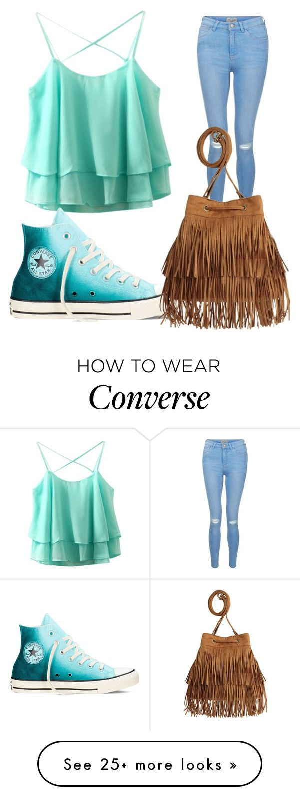 """"" by agnes1806 on Polyvore featuring New Look, Converse and H&M"