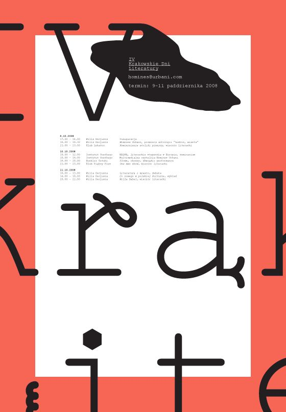 IV Krakowskie Dni Literatury / Edgar Bak | AA13 – blog – Inspiration – Design –…