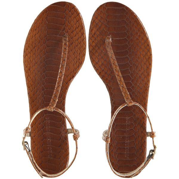 AVEC MODERATION Avec Leather Sandal ($295) ❤ liked on Polyvore