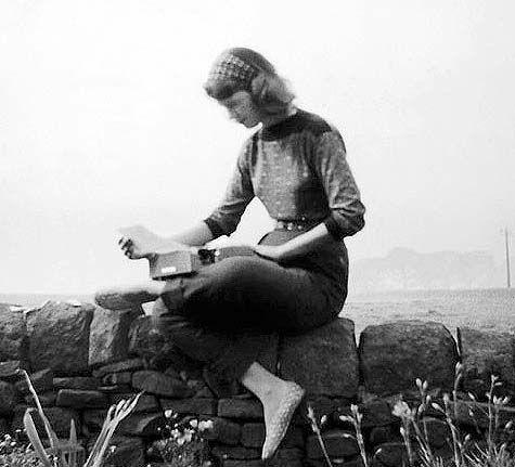 Sylvia Plath on her Olivetti Lettera 32 Typewriter