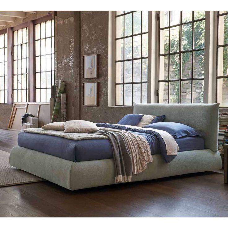Polsterbett Auch Mit Bettkasten Pillow Leinenbezug Graublau Bsb In 2019 Polsterbett Designer Bett Und Bett