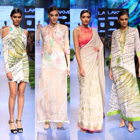 The First Lady of Satya Paul - Gauri Khan at LFW | VIVA-LUXE #Saree #SatyaPaul #IndianFashion #Designer