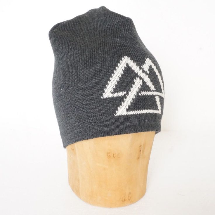 A personal favourite from my Etsy shop https://www.etsy.com/dk-en/listing/280506810/beanie-with-the-valknut-symbol-of-the