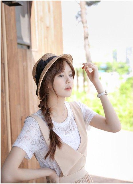 Lovely summer look    #fashion #kooding #koreanfashion #koreanstyle #summer #summerhat