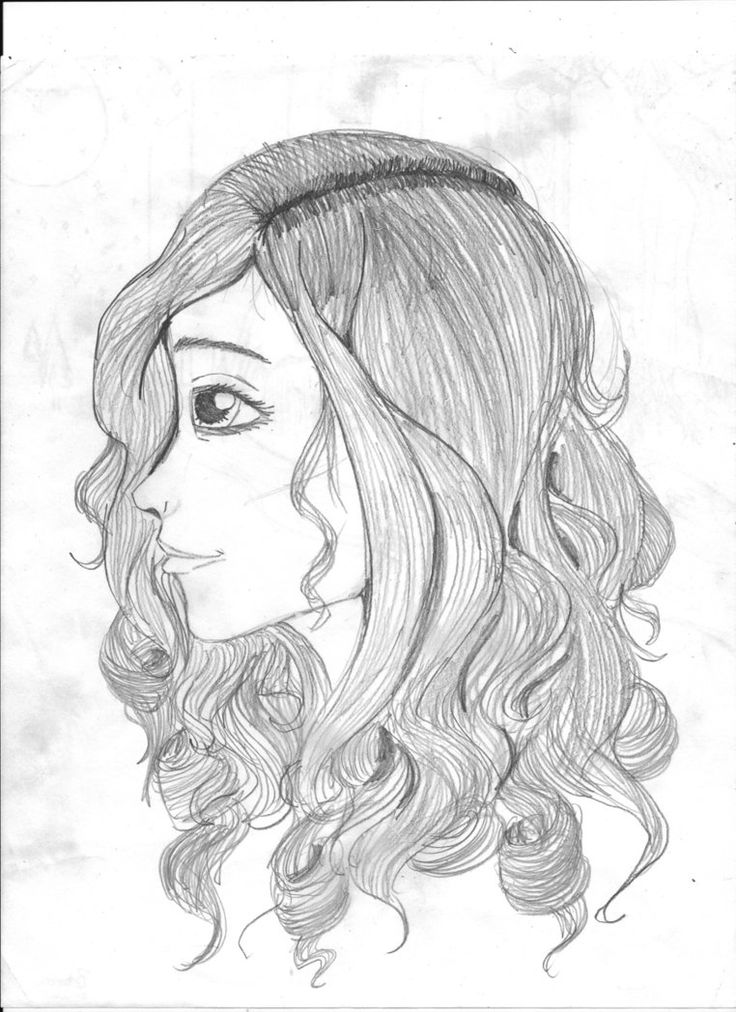 how to draw side profile hair