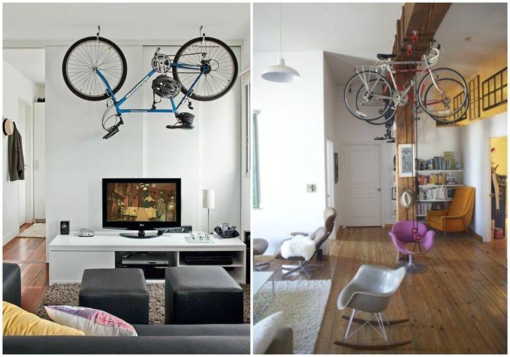 05 bicicleta dentro de casa colgada techo guardar la - Ideas para colgar fotos en casa ...