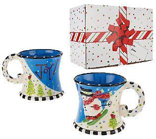 QVC Daily Deal Temp tations Figural Set of 2 16 oz Mug #0: ba af6bb92ef9427a33c7448cbbb