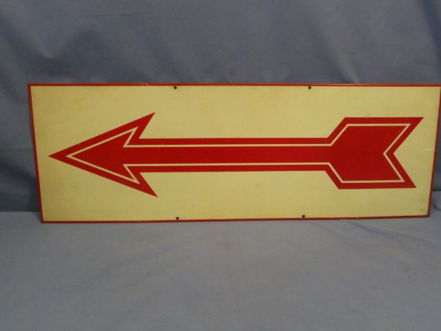 Original WWII Era German ARROW Road Sign