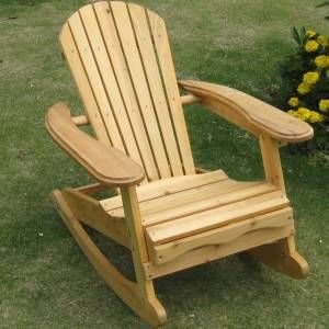 Childs Wooden Rocking Adirondack Chair - Great For Kids £39.99