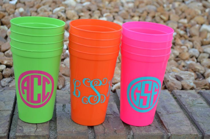Personalized Cups, Plastic Tumblers, Bachelorette Weekend, Bridesmaids, Gifts, Set of 4. $12.00, via Etsy.