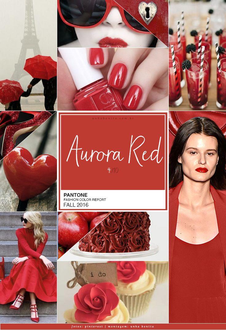 E hoje temos aquele tom que sai estação, entra estação ele está lá – lindo e sempre na moda – vermelho! Impossível não ter pelo menos um vidrinho de vermelho na coleção de esmalte, né? E ele chega todo chique, levemente terroso mas com energia na cartela Pantone Fall 2016. Aurora Red PANTONE 18-1550 No contraste com uma paleta mais sóbria, Aurora Red adiciona um tom de boas-vindas. é um vermelho sensual, quente e ousado, sendo a metáfora de um sangue vibrante. Responsável pelo contraste…