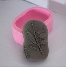 Nieuwe Olijf Craft Art Siliconen Zeep schimmel Craft Mallen DIY Handgemaakte zeep mallen(China)