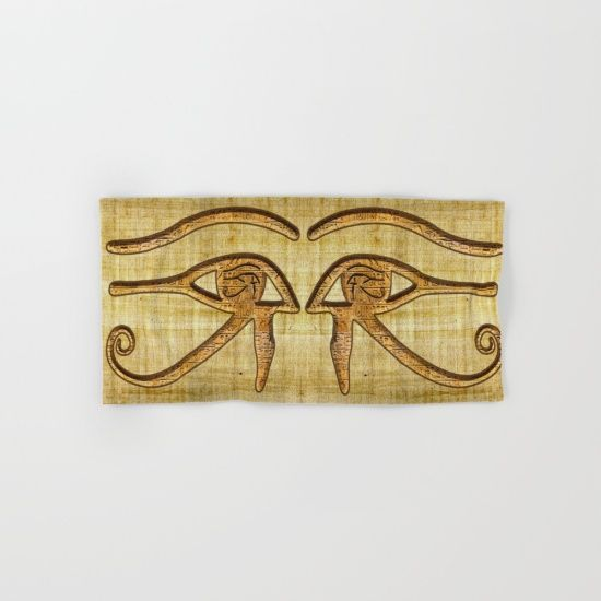 Make your reflection jealous with this artist-designed Bath Towel. The soft polyester-microfiber front and cotton terry back are perfect for, well, drying your front and back. This design is also available as a hand and beach towel. Machine washable. https://society6.com/product/the-wadjet-eye-of-horus-gu1_bath-towel?curator=skyeryanevans