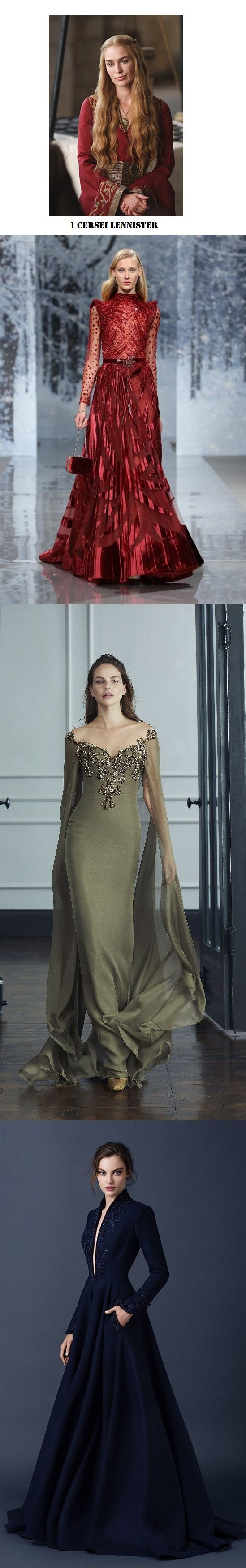 Designer Gowns that might as well be out of the Game of Thrones Series: Cersei Lennister Compilation