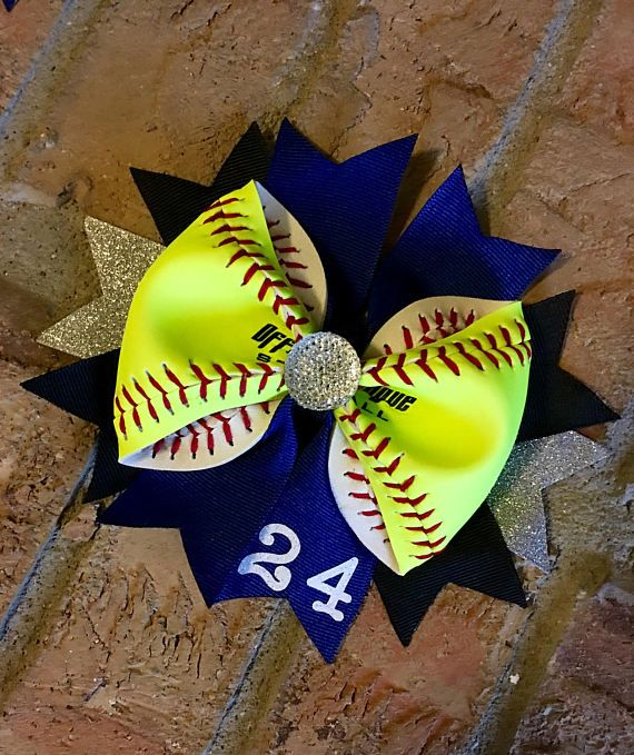 Personalized Real Softball BowGreat for Softball Team