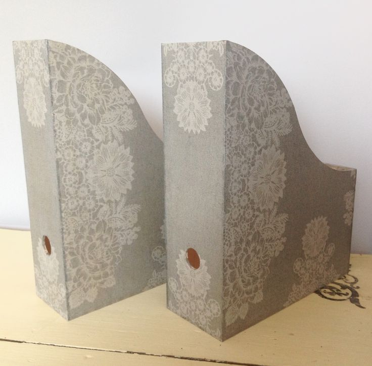Decoupage - file holders