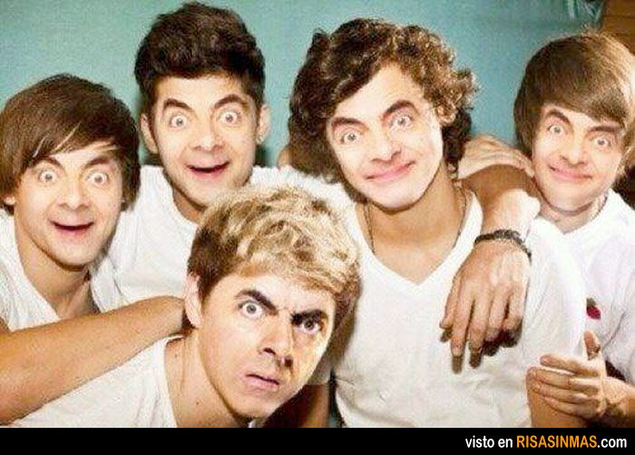 Topic, mr bean as one direction
