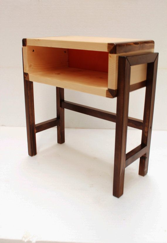 handmade bedside table in retro danish design giving a slick esthetic quality in your personal space. this piece of furniture is handled with
