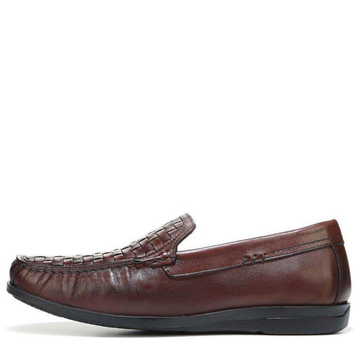 Dockers Men's Ferndale Memory Foam Moc Toe Slip On Shoes (Cognac Leather) - 10.0 M