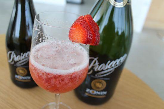 Fresh Strawberry Rossini with Zonin Prosecco